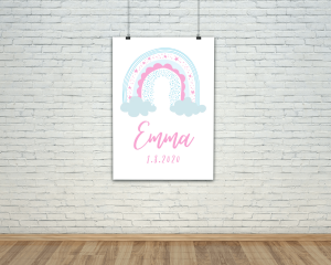 baby girl name digital printable