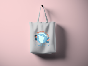There is no Planet B cotton tote bag